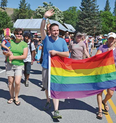 Pride is back. The Methow Valley Pridefest will take place  in Winthrop on Sunday. File photo by Laurelle Walsh
