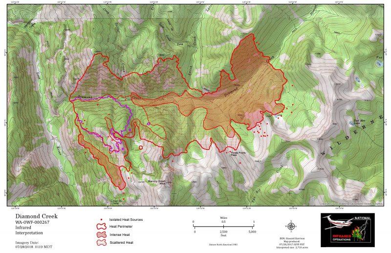 Diamond Creek Fire Update July 28 2017 Methow Valley News