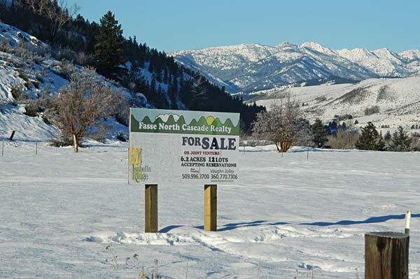 Isabella Ridge, on the former elementary school property, is one of several new subdivisions underway in Twisp. Photo by Ann McCreary