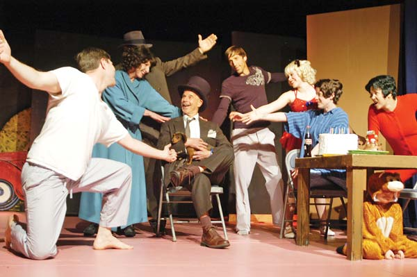 Photo by Ann McCreary The cast of Gypsy rehearses in preparation for its Friday opening at the Methow Valley Community Center.