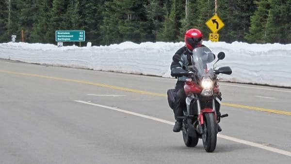 File photo by Don Nelson Motorcyclists start coming over Highway 20 as soon as Washington Pass opens in the spring, and keep up a steady stream of two-wheeled traffic through summer.