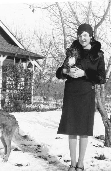 Photo courtesy of Kathleen Bigger Dorothy with her bulldog Corky.