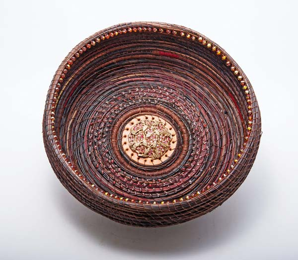 Photos courtesy of Winthrop Gallery Lauralee Northcott's intricate pine needle baskets will be part of the Winthrop Gallery exhibit.