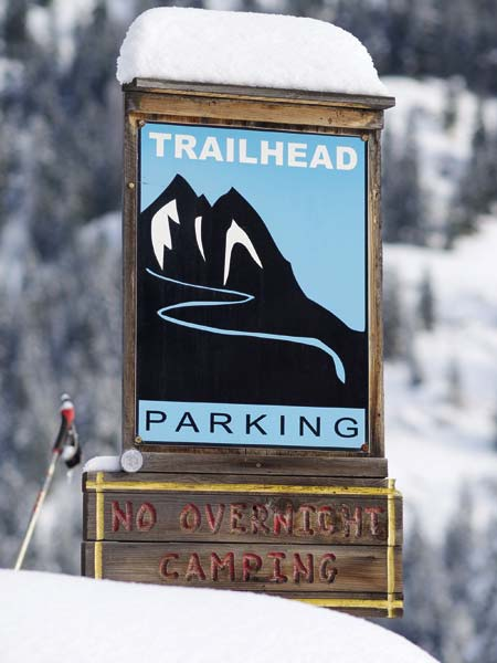Photo by Donni Reddington Because the trail network has trailheads around the valley, skiers can generally find good conditions on some part of the system throughout the winter.