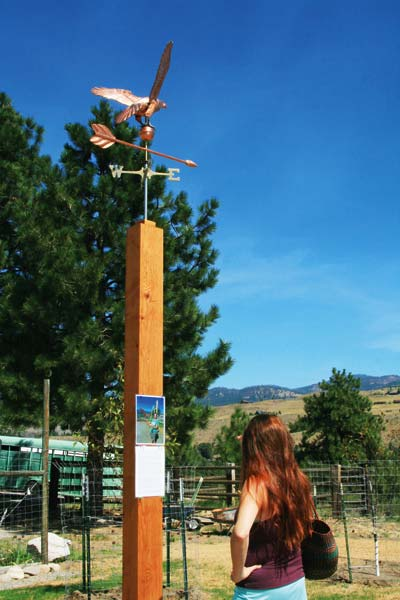Photo by Marcy Stamper This eagle weathervane, a symbol of strength and pride at the reflection site at the Methow Valley Ranger District in Winthrop, encourages people to engage in quiet contemplation to honor the lives and contributions of the firefighters who died in the Twisp River Fire.
