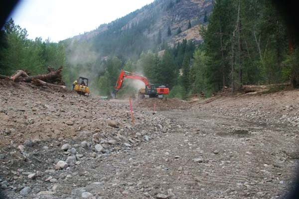 Photo by Bob Spiwak Another ambitious salmon recovery project is underway on the Methow River.