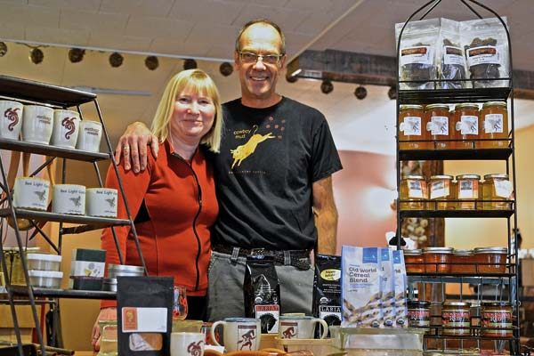 Teresa and Steve Mitchell open their new store, Methow Masala, next door to their Rocking Horse Bakery in Winthrop this week. Photo by Laurelle Walsh