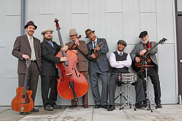 Hot Club Sandwich, a Seattle-based gypsy-jazz string band, will perform Dec. 27 at Winterfest. Photo courtesy Hot Club Sandwich